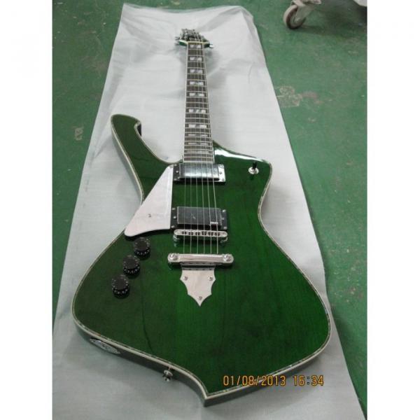 Custom Shop Left Iceman Ibanez Green Electric Guitar