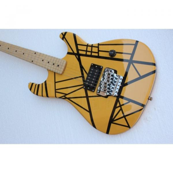 Custom Shop EVH Yellow Black Stripe Electric Guitar