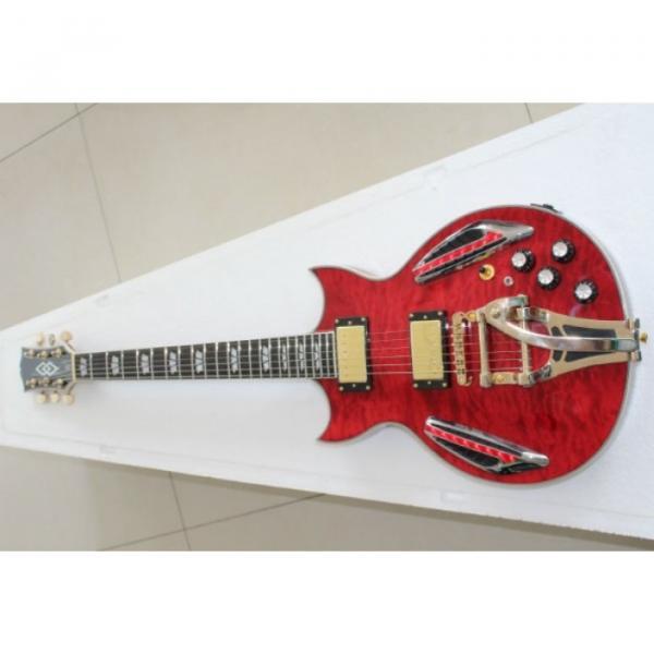 Custom Shop ES 335 Bigbys Maple Red LED Jazz Electric Guitar