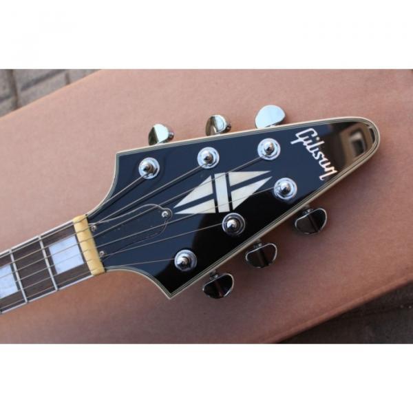 Custom Shop Black guitarra Flying V Electric Guitar