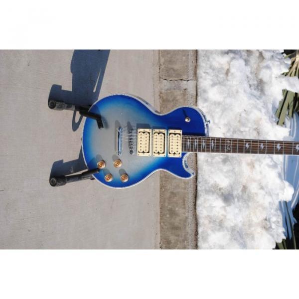 Custom Shop Ace Frehley Robot Blue LP Electric Guitar