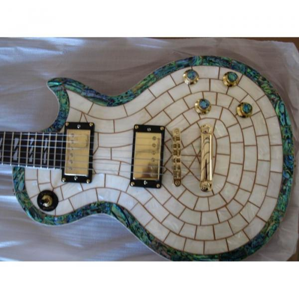 Custom Shop Abalone Exotic Electric Guitar MOP