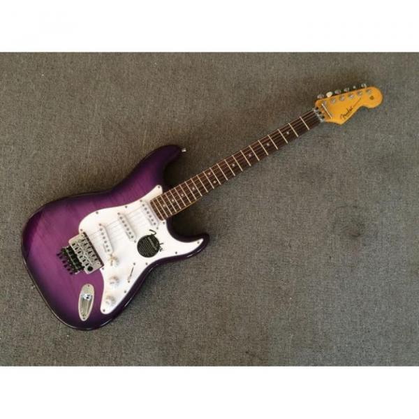 Custom Purple Fender Ehsaan Noorani Stratocaster Chrome Electric Guitar