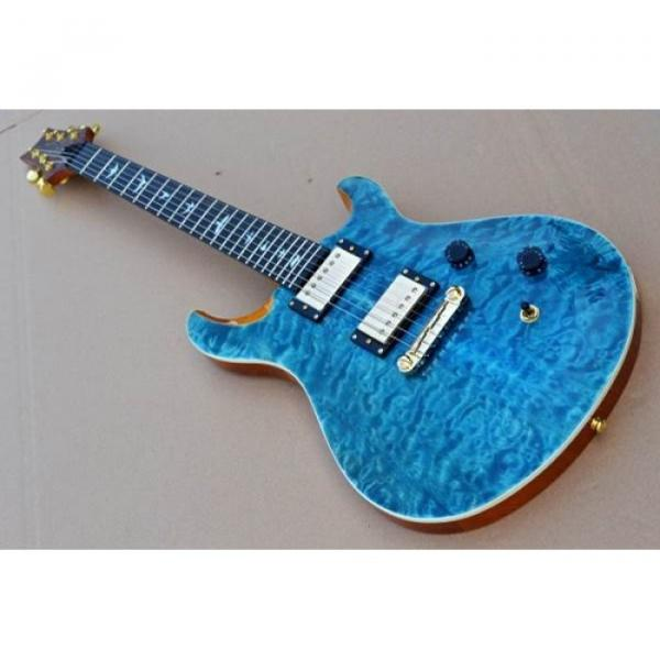 Custom PRS Paul Reed Smith 24 Electric Guitar Teal Blue