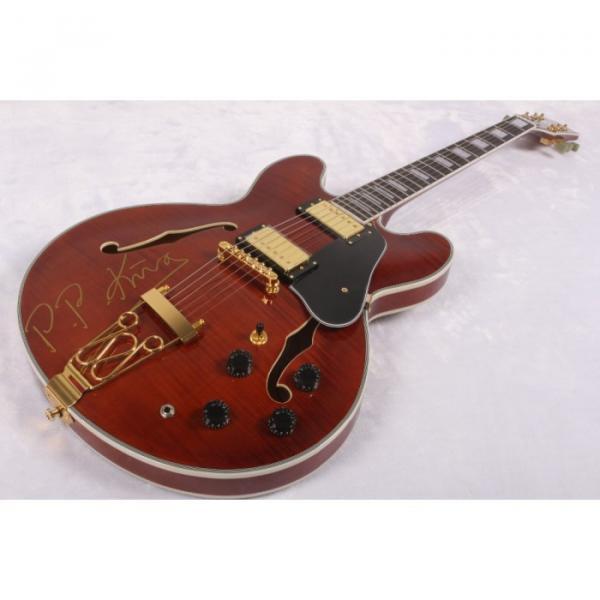 Custom BB King Lucille ES335 Brown Electric Guitar
