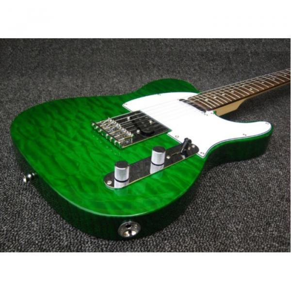 Custom Shop Quilted Green Maple Top Telecaster Electric Guitar