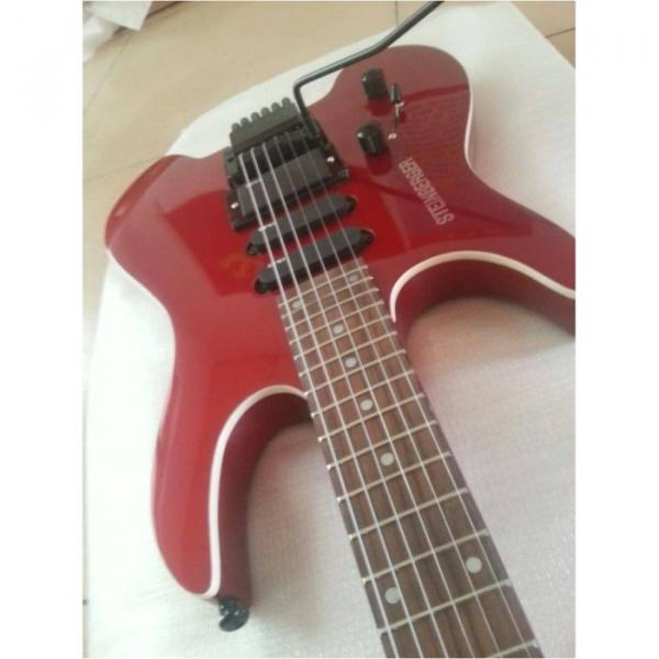 Custom Shop Red Steinberger No Headstock Electric Guitar