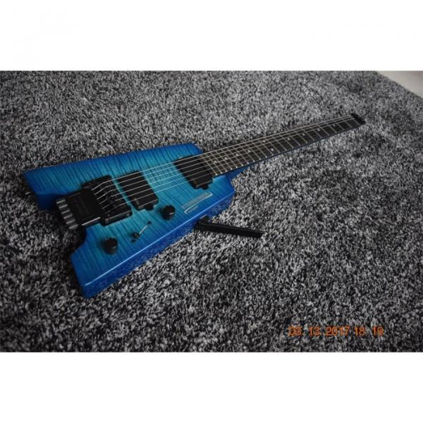 Custom Shop Blue Flame Maple Top Steinberger Headless Electric Guitar