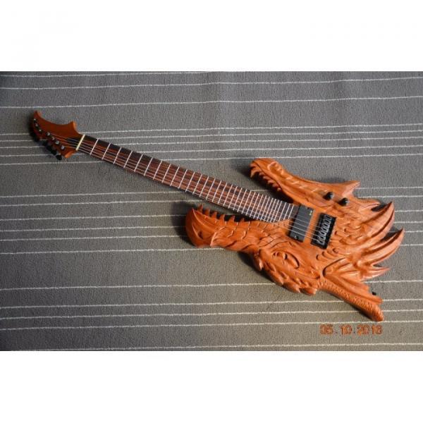 Custom Shop 7 String Carved Dragon Electric Guitar
