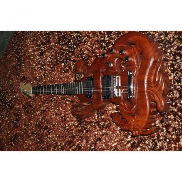Custom Shop 6 String Dragon Electric Guitar Carvings