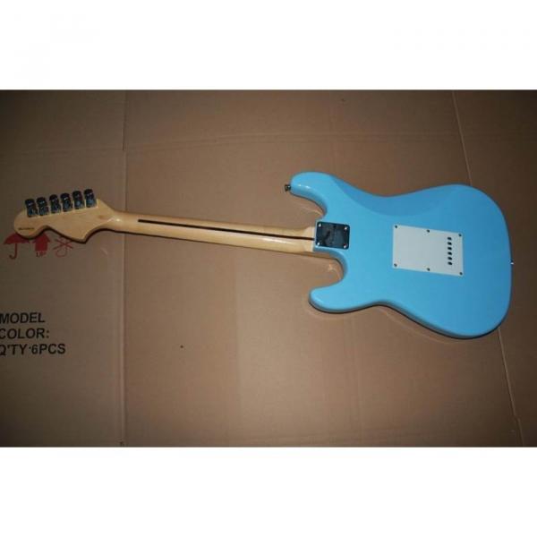 Custom American Stratocaster Daphe Blue Electric Guitar