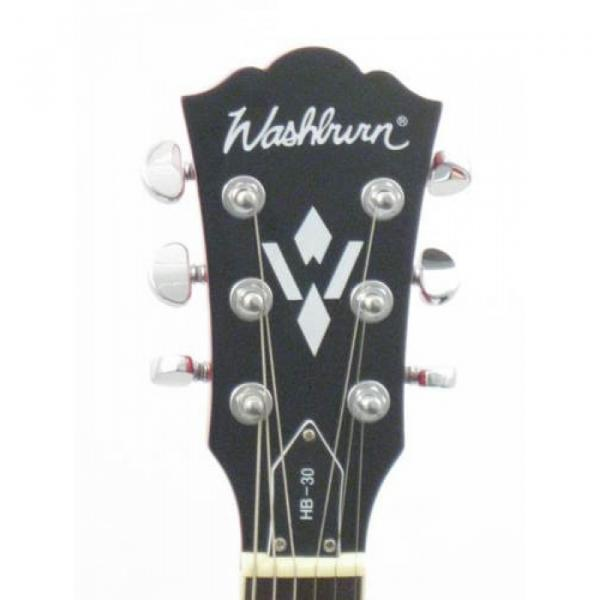 Washburn HB3WRK Wine Red Jazz Style Guitar With Hard Shell Case