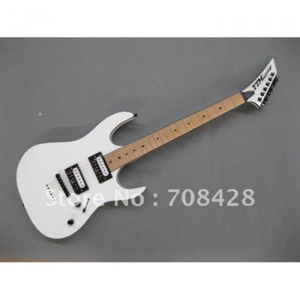USA Custom Built Deville White TTM Super Shop Guitar