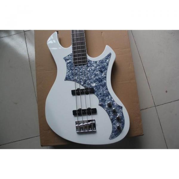 ESP White Custom Electric Bass