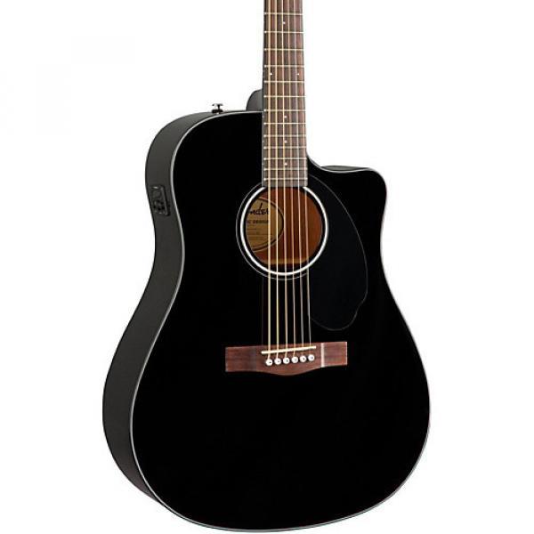 Fender Classic Design Series CD-60SCE Cutaway Dreadnought Acoustic-Electric Guitar Black