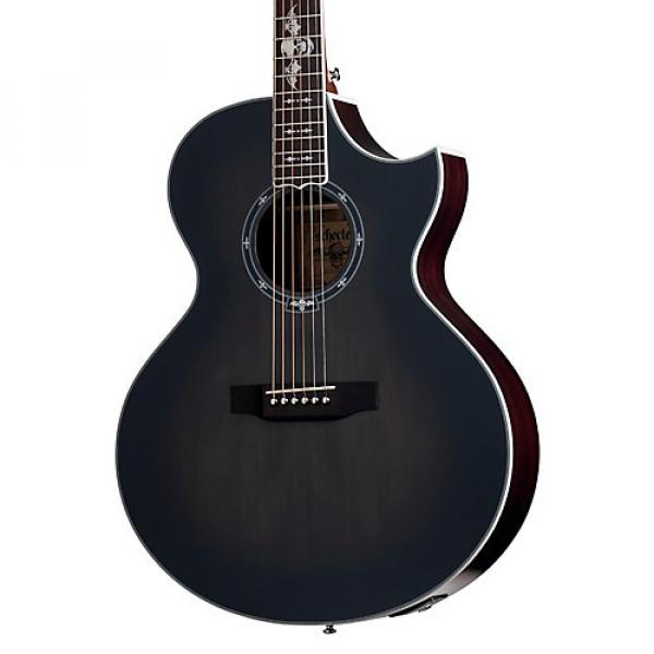 Schecter Guitar Research Synyster Gates 3701 Acoustic-Electric Guitar Transparent Black Burst Satin