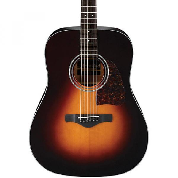 Ibanez AW400 Artwood Solid Top Dreadnought Acoustic Guitar Brown Sunburst