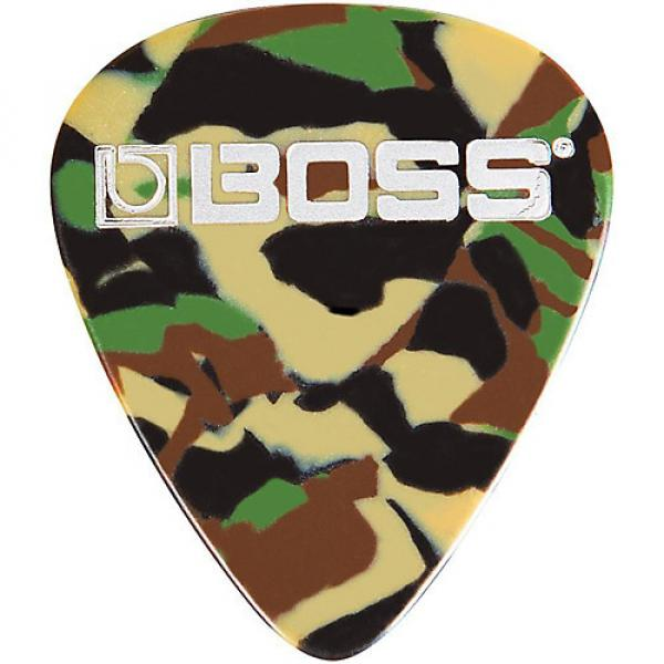 Boss Camo Celluloid Guitar Pick Thin 12 Pack