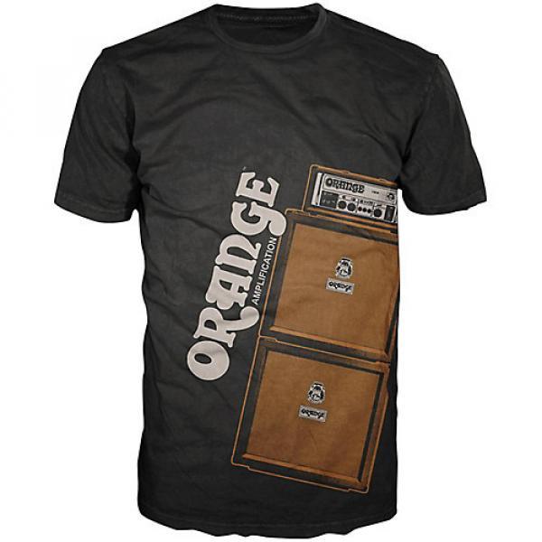 Orange Amplifiers Men's Stack T-Shirt Black XXX-Large