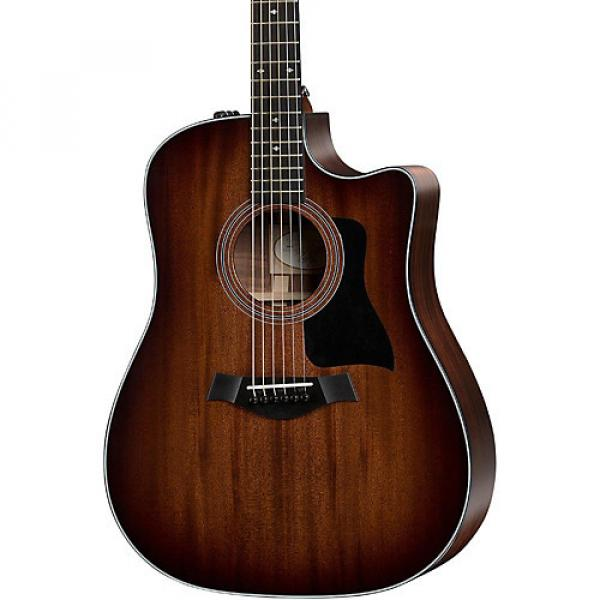 Chaylor 300 Series 320ce Dreadnought Cutaway ES2 Acoustic-Electric Guitar Shaded Edge Burst