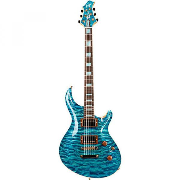 ESP Exhibition Custom Mystique Electric Guitar See-Thru Blue