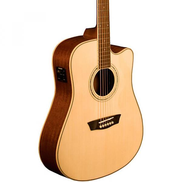 Washburn Comfort Series WCD18CE Acoustic-Electric Guitar Natural