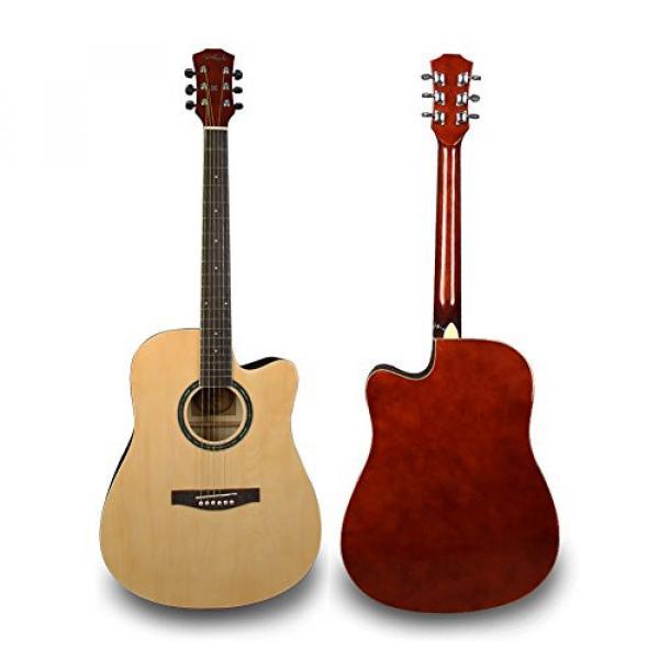 Bailando 41 Inch Full Size Dreadnought Cutaway Acoustic Guitar, Natural