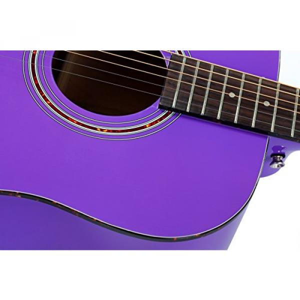 """Hola! HG-41PP (41"""" Full Size) Deluxe Dreadnought Acoustic Guitar, Purple"""