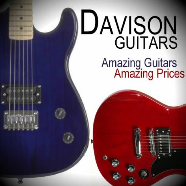 Black Full Size Electric Bass Guitar With Cord And Picks By Davison