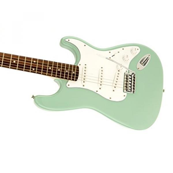 Squier by Fender Affinity Stratocaster Beginner Electric Guitar - Rosewood Fingerboard, Surf Green
