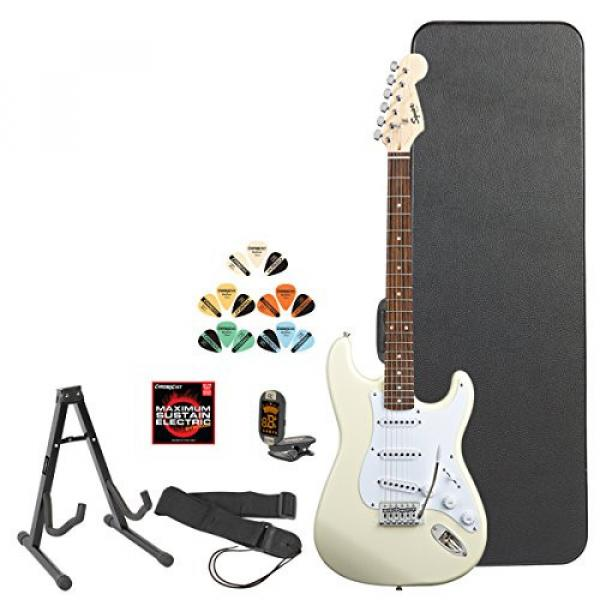 Squier by Fender Arctic White Electric Guitar w/ Accessories & Online Lesson