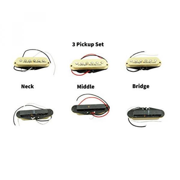 1 Set of 3 SSS Strat style Single Coil Pickups Bridge Middle Neck Cream