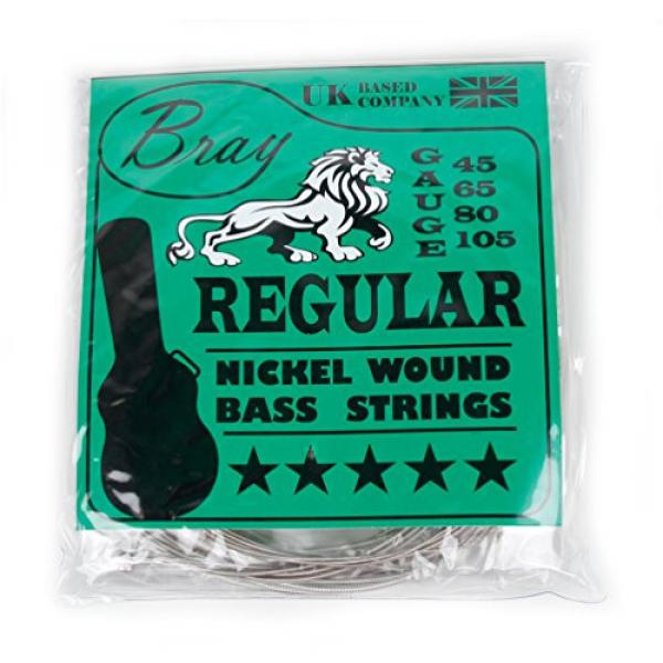 Bray's 4 String Bass Guitar Strings (45 - 105) Perfect For Fender, Gibson, Yamaha, Squier & Ibanez Bass Guitars