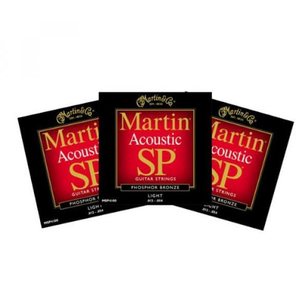 Martin MSP4100 Sp Acoustic Guitar Strings Light 3 Packs