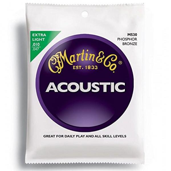 Martin M530 Phosphor Bronze Acoustic Guitar Strings, Extra Light
