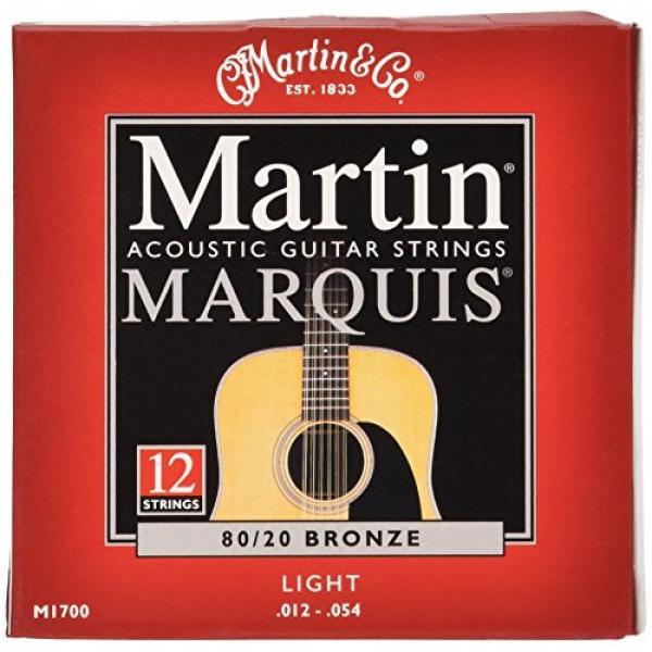 Martin M1700 Marquis 80/20 Bronze 12-String Acoustic Guitar Strings, Light