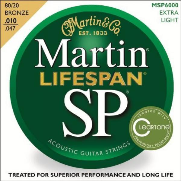 Martin MSP6000 SP Lifespan 80/20 Bronze Acoustic String, Extra Light