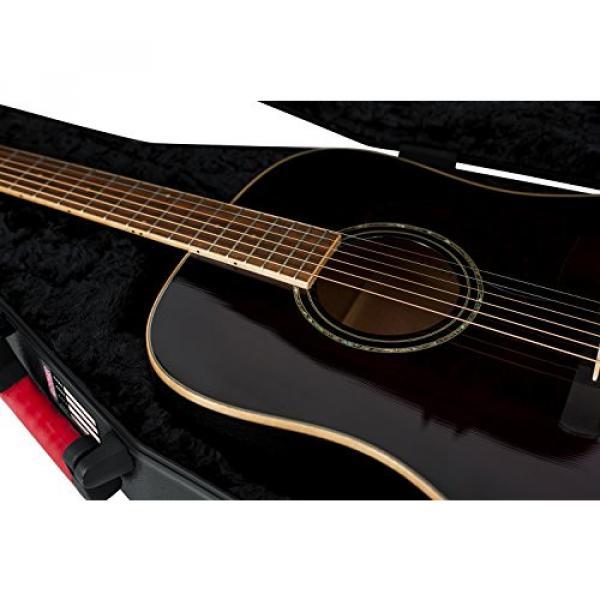 Gator Cases GTSA Series Acoustic Dreadnought Guitar Case with TSA Locking Latch