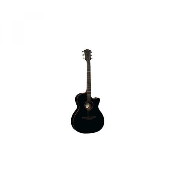 LAG T100ACEBLK Stage Auditorium Cutaway Acoustic-Electric Guitar - Black
