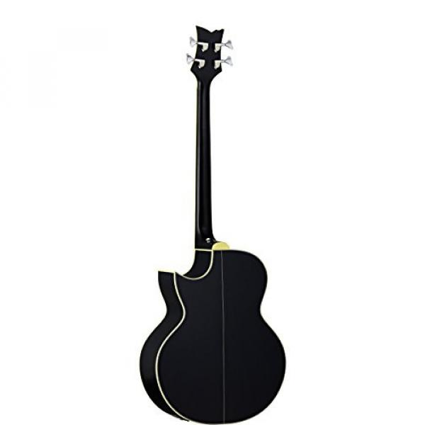 Ortega Guitars D1-4LE One 4-String Left-Handed Acoustic Bass with Solid Spruce Top and Mahogany Body, Gloss