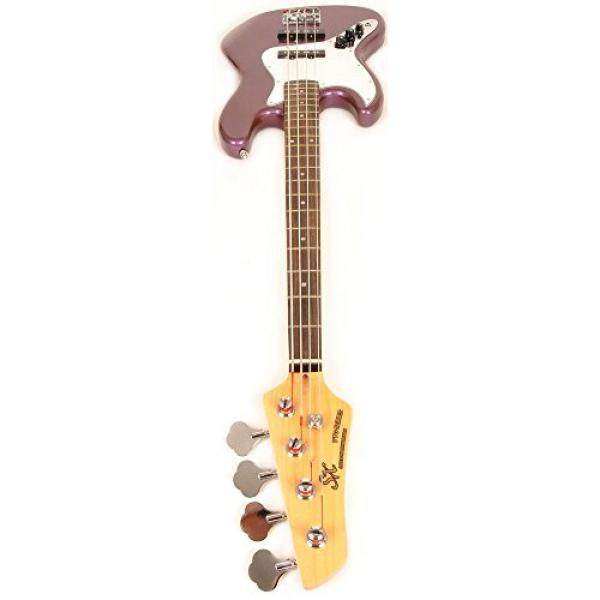 SX Ursa 2 RN PK MPP LH Full Size Left Handed Purple Bass Guitar Package w/Amp, Carry Bag and Instructional Video