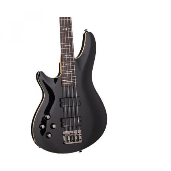 Schecter OMEN-4 Left Handed 4-String Bass Guitar, Black