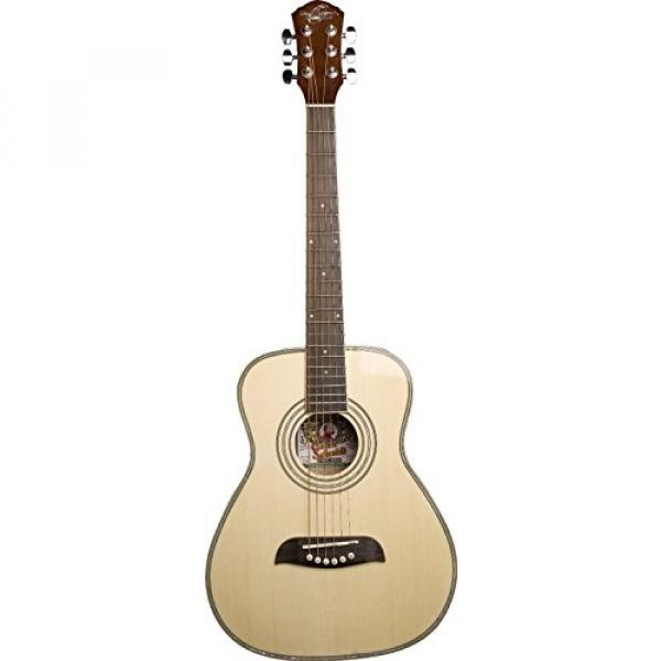Oscar Schmidt OGHS 1/2 Size Natural Acoustic Guitar w/Picks, Strings and More