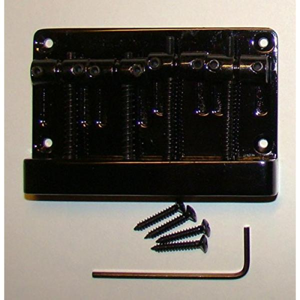 REPLACEMENT FOUR STRING BRIDGE FOR JAZZ BASS - BLACK FINISH
