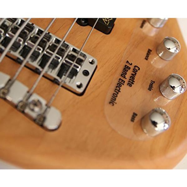 Warwick Rockbass Corvette Basic 5 string fretless bass. Active-Natural satin