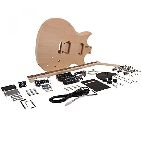 Seismic Audio - SADIYG-11 - Premium PRS Style DIY Electric Guitar Kit - Unfinished Luthier Project Kit