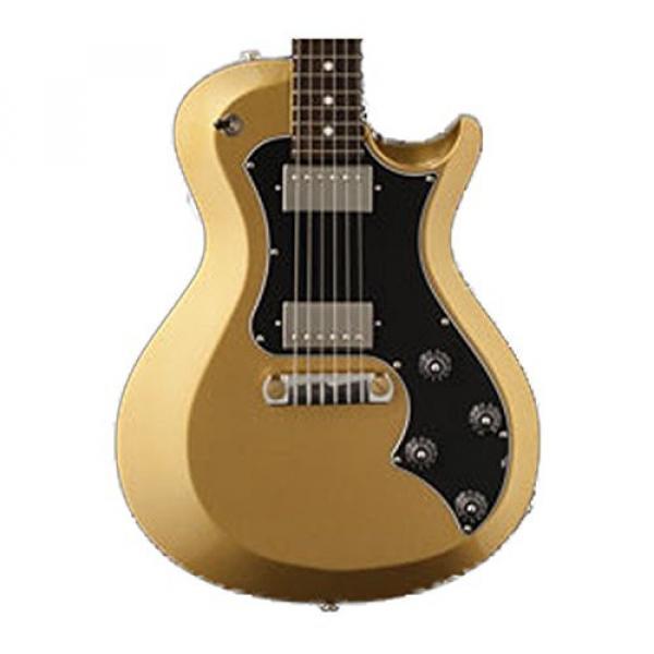 PRS T2SD06_EC S2 Singlecut Standard Electric Guitar, Egyptian Gold Metallic with Dot Inlays & Gig Bag