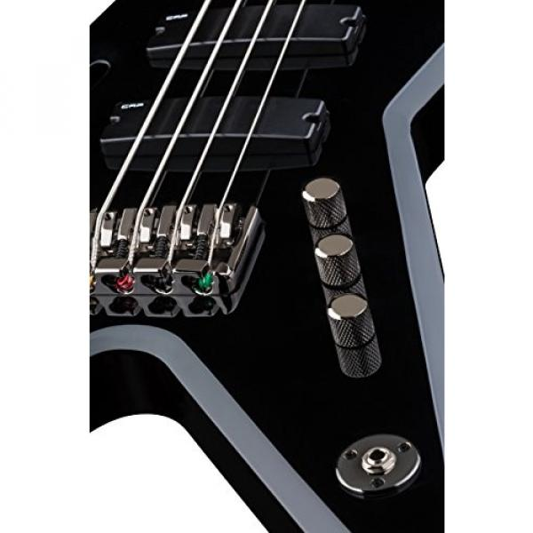 Dean RZR BASS CBK Razorback Bass Guitar, Classic Black