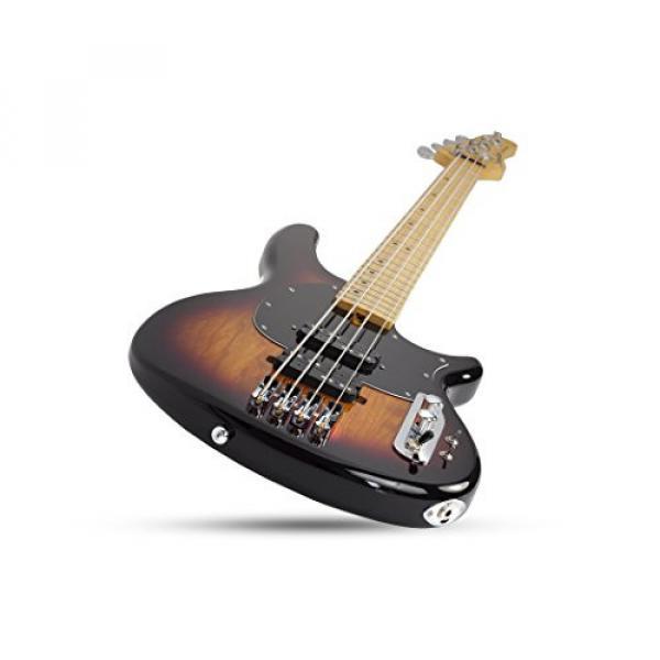 Schecter 2491 4-String Bass Guitar, 3-Tone Sunburst