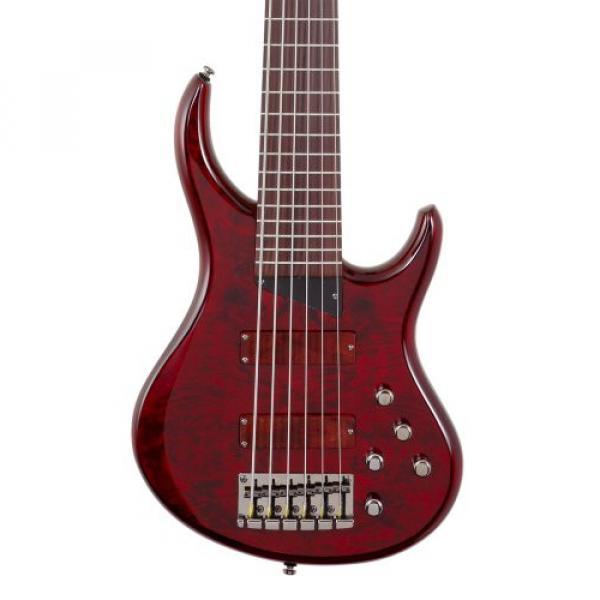 MTD Kingston Bass Guitar Z 6 String, Rosewood Fingerboard, Transparent Cherry